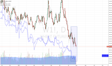 W1!: Possible Divergance on Wheat