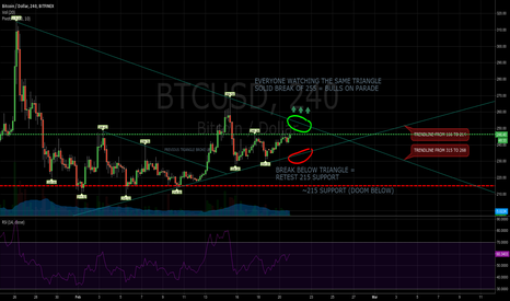 BTCUSD: On our way to test 300 again?