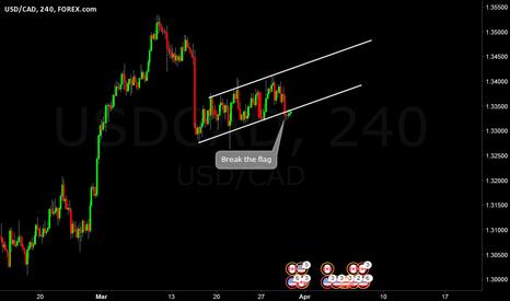 USDCAD: USDCAD Flag break H4
