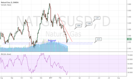 NATGASUSD: Natural gas is at the support zone!