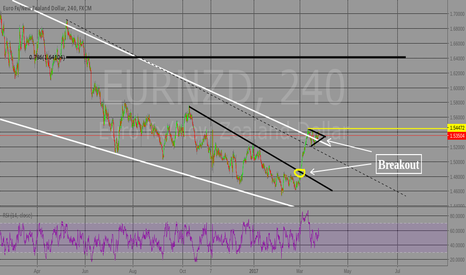 EURNZD: Flag, buy stop, breakout.