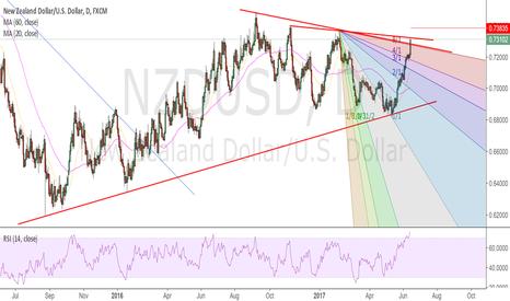 NZDUSD: short nzdusd daily top