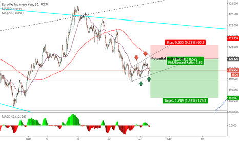 EURJPY: EURJPY Bearish flag
