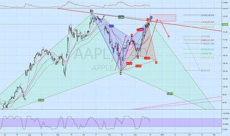 AAPL: AAPL   Bear Bat completing on 4 H