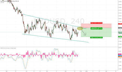 NZDUSD: NZDUSD Short on the 4 hour