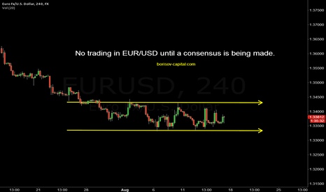 EURUSD: No trading in EUR/USD until a consensus is being made.