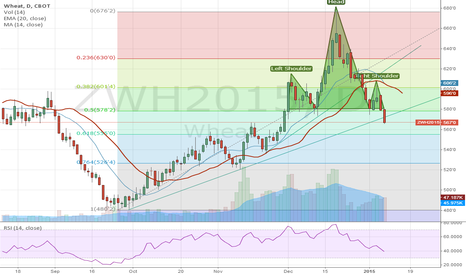 ZWH2015: Bearish Wheat, Head and Shoulders formation complete