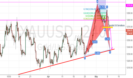 XAUUSD: XAUUSD,the BAMM pattern begin