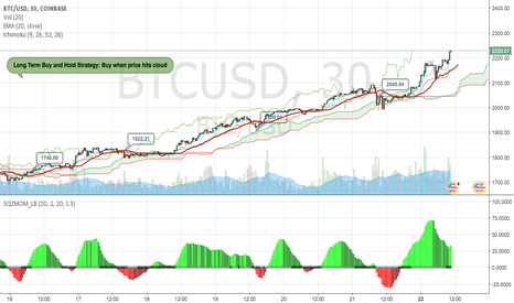 BTCUSD: Entries for BTC Long term buy and hold strategy