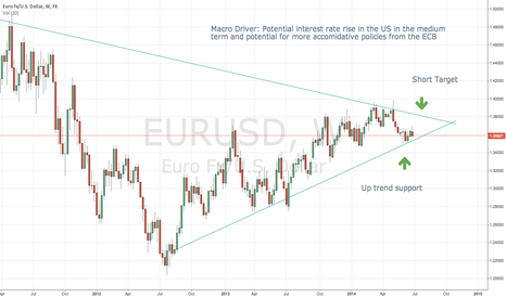 EURUSD: Shorting the EURUSD within 2-3 months
