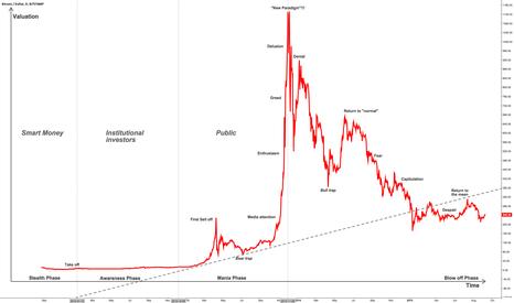 BTCUSD: Phases of a 'Bitcoin' Bubble