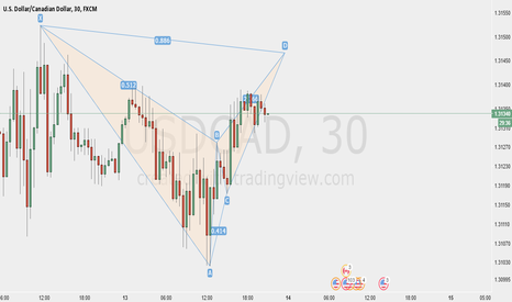USDCAD: Bear Bat USDCAD 30 Min Chart