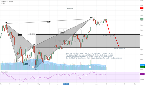 FB: Facebook FB Bearish Shark Completion and Retest.