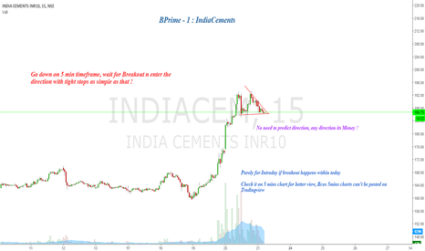 INDIACEM: BPrime - 1 : IndiaCements ( New Series)