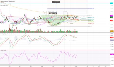 NEM: Newmont Mining Daily (06.08.2014) Chart Technical Analysis