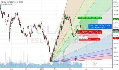 TSLA: Tesla Gann Fan .. possible uptick?? Any Thoughts?