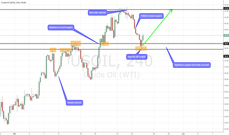 USOIL: Bullish reaction off role reversal level