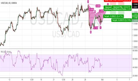 USDCAD: Potential Bearish Bat USD CAD