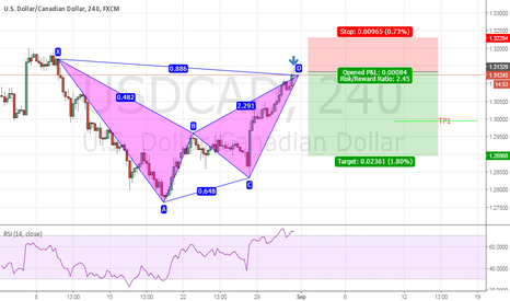 USDCAD: USD/CAD Bearish bat