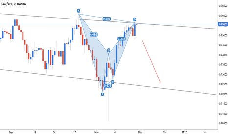 CADCHF: CAD/CHF - Bearish Bat