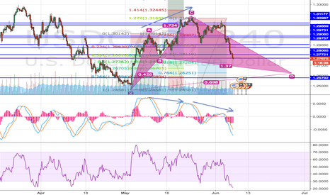 USDCAD: USDCAD Cypher (4h) Long