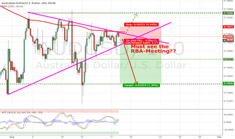 AUDUSD: Triangle with bearish breakout