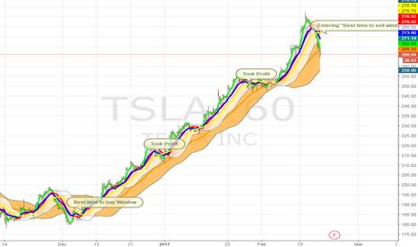 TSLA: TSLA Hourly Chart -- Why I took profit :)