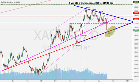 XAUUSD: Strong support at 1255 going into NFP
