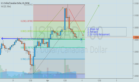 USDCAD: USDCAD BreakOut + Pull Back + Fib Retracement + Pin Candle