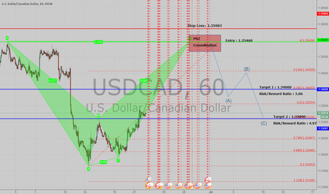 USDCAD: USDCAD XABCD Bearlish Pattern ! The Coming Half A Month .
