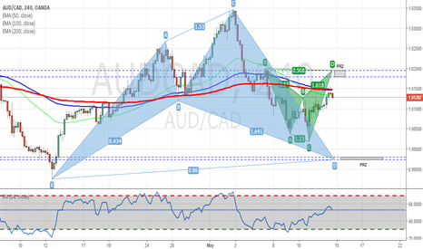 AUDCAD: AUDCAD - 2 Possible Shark Patterns Forming
