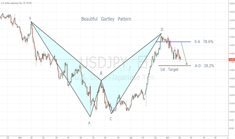 USDJPY: Beautiful Gartley Pattern