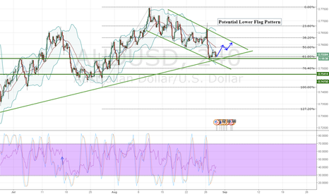 AUDUSD: AUDUSD Potential Lower Flag