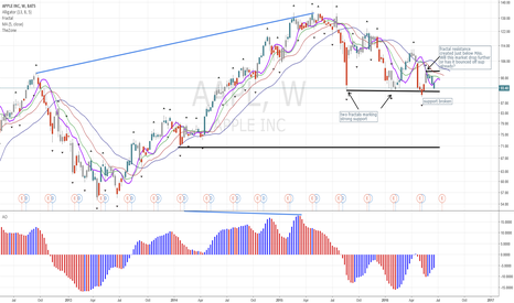 AAPL: AAPL failed at Resistance, on Its way Down?!