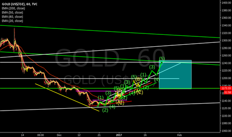 GOLD: elliot wave to feb 1 week