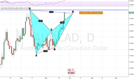 AUDCAD: AUDCAD - What is happening at the 2016 high?
