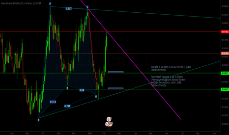 NZDUSD: NZDUSD Consolidation Wedge post Gartley