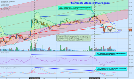 LTCUSD: Textbook Regular Divergence Reversal on Litecoin