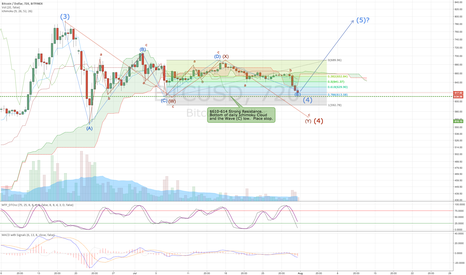 BTCUSD: BTCUSD: Final Leg Down of Wave (4)?  Or further to go?